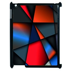 3d And Abstract Apple iPad 2 Case (Black)