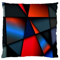 3d And Abstract Large Cushion Case (two Sides)