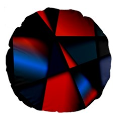 3d And Abstract Large 18  Premium Round Cushions