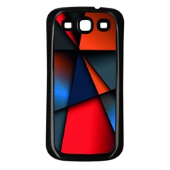 3d And Abstract Samsung Galaxy S3 Back Case (Black)