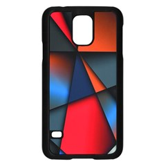 3d And Abstract Samsung Galaxy S5 Case (black)
