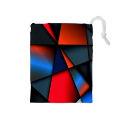 3d And Abstract Drawstring Pouches (medium)