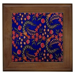 Batik Fabric Framed Tiles