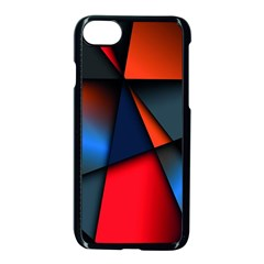 3d And Abstract Apple Iphone 7 Seamless Case (black)