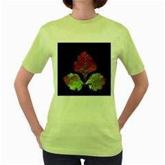 Autumn Beauty Women s Green T-Shirt
