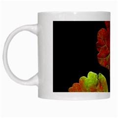 Autumn Beauty White Mugs