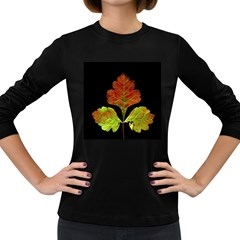 Autumn Beauty Women s Long Sleeve Dark T-Shirts
