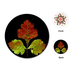 Autumn Beauty Playing Cards (Round)