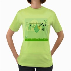 Baby Boy Clothes Line Women s Green T-Shirt