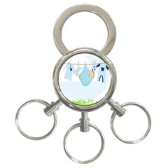 Baby Boy Clothes Line 3-Ring Key Chains