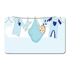 Baby Boy Clothes Line Magnet (Rectangular)