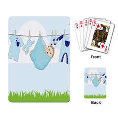 Baby Boy Clothes Line Playing Card