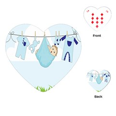 Baby Boy Clothes Line Playing Cards (Heart)