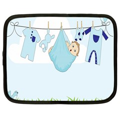 Baby Boy Clothes Line Netbook Case (Large)