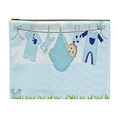 Baby Boy Clothes Line Cosmetic Bag (XL)