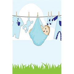Baby Boy Clothes Line 5.5  x 8.5  Notebooks