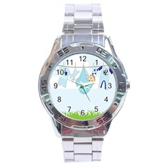 Baby Boy Clothes Line Stainless Steel Analogue Watch