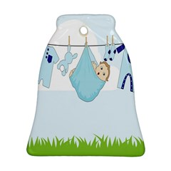 Baby Boy Clothes Line Ornament (Bell)