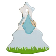 Baby Boy Clothes Line Christmas Tree Ornament (Two Sides)