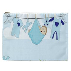 Baby Boy Clothes Line Cosmetic Bag (XXL)