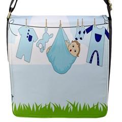 Baby Boy Clothes Line Flap Messenger Bag (S)