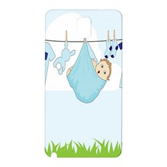Baby Boy Clothes Line Samsung Galaxy Note 3 N9005 Hardshell Back Case