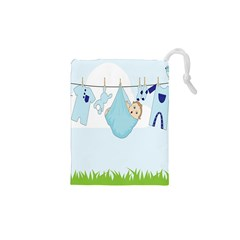 Baby Boy Clothes Line Drawstring Pouches (XS)