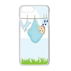 Baby Boy Clothes Line Apple Iphone 7 Plus White Seamless Case