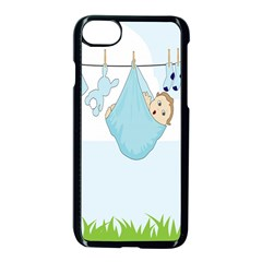 Baby Boy Clothes Line Apple Iphone 7 Seamless Case (black)