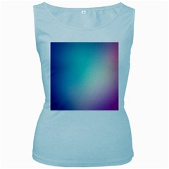 Background Blurry Template Pattern Women s Baby Blue Tank Top