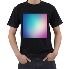 Background Blurry Template Pattern Men s T-Shirt (Black) (Two Sided)