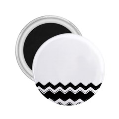 Chevrons Black Pattern Background 2.25  Magnets