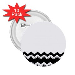Chevrons Black Pattern Background 2.25  Buttons (10 pack)