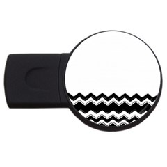 Chevrons Black Pattern Background USB Flash Drive Round (1 GB)
