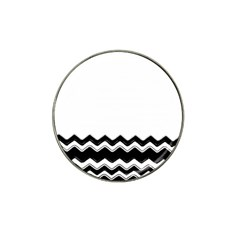 Chevrons Black Pattern Background Hat Clip Ball Marker (4 pack)