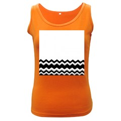 Chevrons Black Pattern Background Women s Dark Tank Top