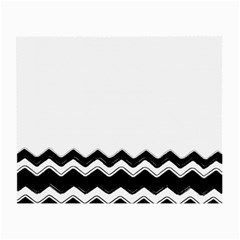 Chevrons Black Pattern Background Small Glasses Cloth (2-Side)