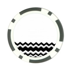 Chevrons Black Pattern Background Poker Chip Card Guard