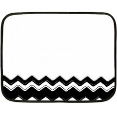 Chevrons Black Pattern Background Double Sided Fleece Blanket (Mini)