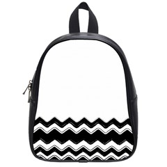 Chevrons Black Pattern Background School Bags (Small)