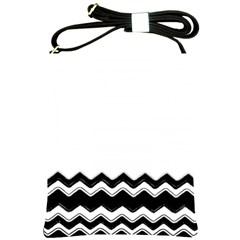 Chevrons Black Pattern Background Shoulder Sling Bags