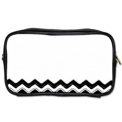 Chevrons Black Pattern Background Toiletries Bags 2-Side
