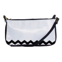 Chevrons Black Pattern Background Shoulder Clutch Bags