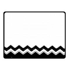 Chevrons Black Pattern Background Fleece Blanket (Small)