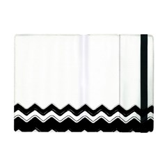 Chevrons Black Pattern Background Apple iPad Mini Flip Case