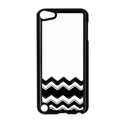 Chevrons Black Pattern Background Apple iPod Touch 5 Case (Black)