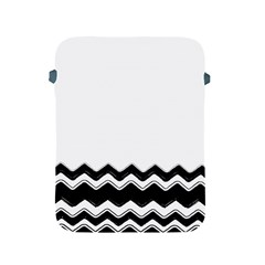 Chevrons Black Pattern Background Apple iPad 2/3/4 Protective Soft Cases