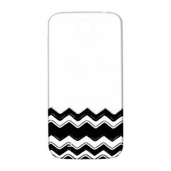 Chevrons Black Pattern Background Samsung Galaxy S4 I9500/I9505  Hardshell Back Case