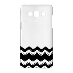 Chevrons Black Pattern Background Samsung Galaxy A5 Hardshell Case