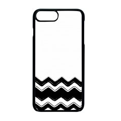 Chevrons Black Pattern Background Apple Iphone 7 Plus Seamless Case (black)